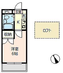 埼玉県羽生市西2丁目の賃貸アパートの間取り