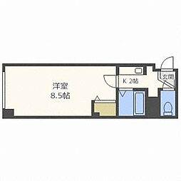北海道札幌市西区二十四軒二条4丁目の賃貸マンションの間取り