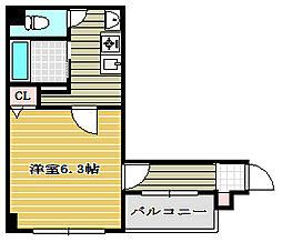 ミーネ新町館[3階]の間取り