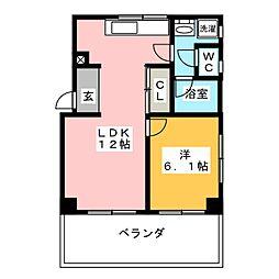 高宮台ハイツ[2階]の間取り