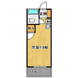 ストーンフィールドNO5.[3階]の間取り