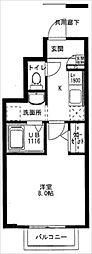 ユニベール神戸[1階]の間取り