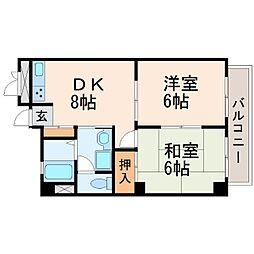 マンションハレクラニ[3階]の間取り