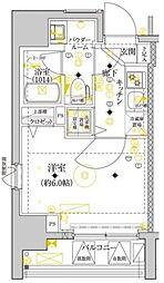 セジョリ横浜ウエスト[9階]の間取り