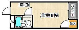 三興レジデンス[301号室]の間取り
