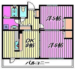 須賀第6ハイツ[201号室]の間取り