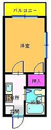 東京都江戸川区春江町3丁目の賃貸マンションの間取り