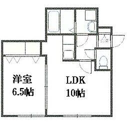 北海道札幌市豊平区月寒東一条6丁目の賃貸マンションの間取り