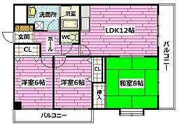 ロンドコーポラス[1階]の間取り
