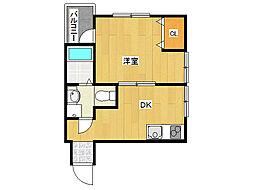 JR山陽本線 垂水駅 徒歩10分の賃貸アパート 1階1DKの間取り