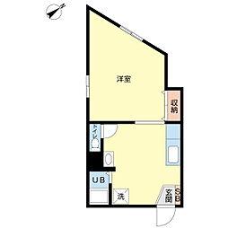 タウンハウス・タマ[202号室]の間取り