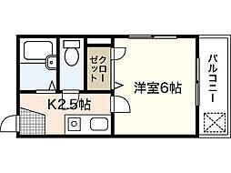 メルカード弐番館[1階]の間取り