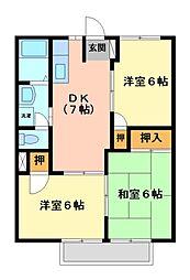 コーポHasegawa[2階]の間取り