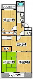 グリーンタウン石井[2階]の間取り