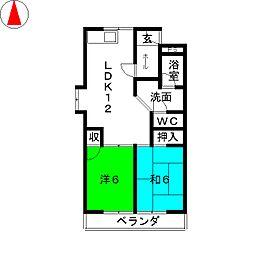 サンシャイン星崎[4階]の間取り