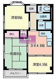 勧銀マンション[2階]の間取り