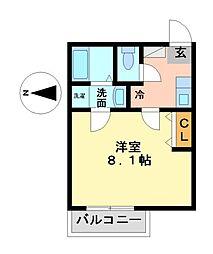 愛知県名古屋市熱田区切戸町2丁目の賃貸アパートの間取り