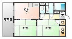 兵庫県神戸市垂水区塩屋町3丁目の賃貸アパートの間取り