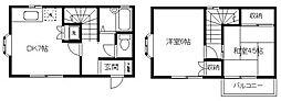 [テラスハウス] 神奈川県相模原市中央区相模原2丁目 の賃貸【/】の間取り