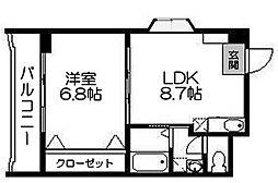 エスティ21[4階]の間取り