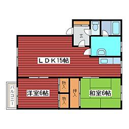 正和マンションNo.1[2階]の間取り