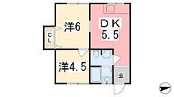 アリスコビル[3-C号室]の間取り