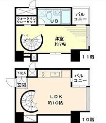 東京松屋ユニティ[10階]の間取り