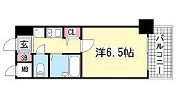 エスリード新神戸[706号室]の間取り