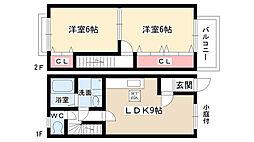 [テラスハウス] 愛知県長久手市杁ヶ池 の賃貸【/】の間取り