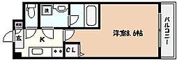 阪神本線 青木駅 徒歩9分の賃貸マンション 3階1Kの間取り