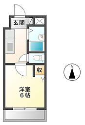 ローズコーポ阪神尼崎[5階]の間取り