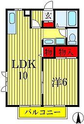 埼玉県八潮市八潮4丁目の賃貸アパートの間取り