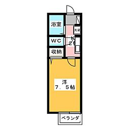 ソシアパートII[1階]の間取り