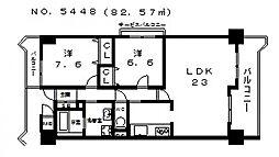 あべのドルチェ 北棟[707号室号室]の間取り