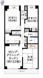 博多駅東パークホームズ[6階]の間取り
