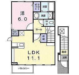 メゾンジャスティス C棟[2階]の間取り