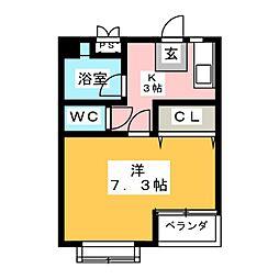 F.キュート[3階]の間取り