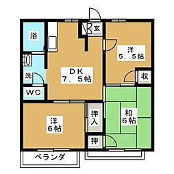青空パレス[2階]の間取り