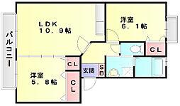 プロシード倉石[2階]の間取り