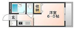 エスポワール老松[2階]の間取り
