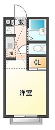 屋敷レジデンス[2階]の間取り