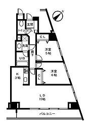 ベイサイドハウス[3階]の間取り