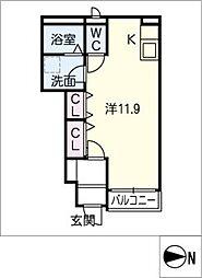 那加太平町N様アパート[1階]の間取り