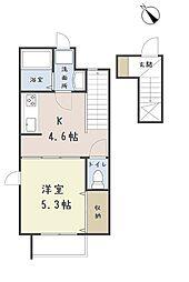 埼玉県さいたま市浦和区瀬ヶ崎2丁目の賃貸アパートの間取り