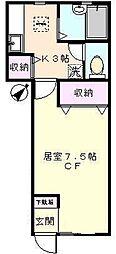 東京都板橋区東坂下2丁目の賃貸アパートの間取り
