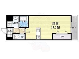 仮称西大寺南マンション 8階ワンルームの間取り