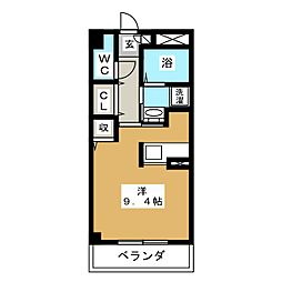 WJガーデン亀山[4階]の間取り