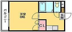 サンロ−ド篠栗[3階]の間取り