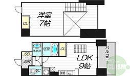 ノルデンタワー新大阪アネックス 7階1LDKの間取り