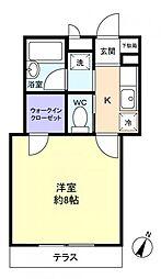 千葉県船橋市西習志野3の賃貸アパートの間取り